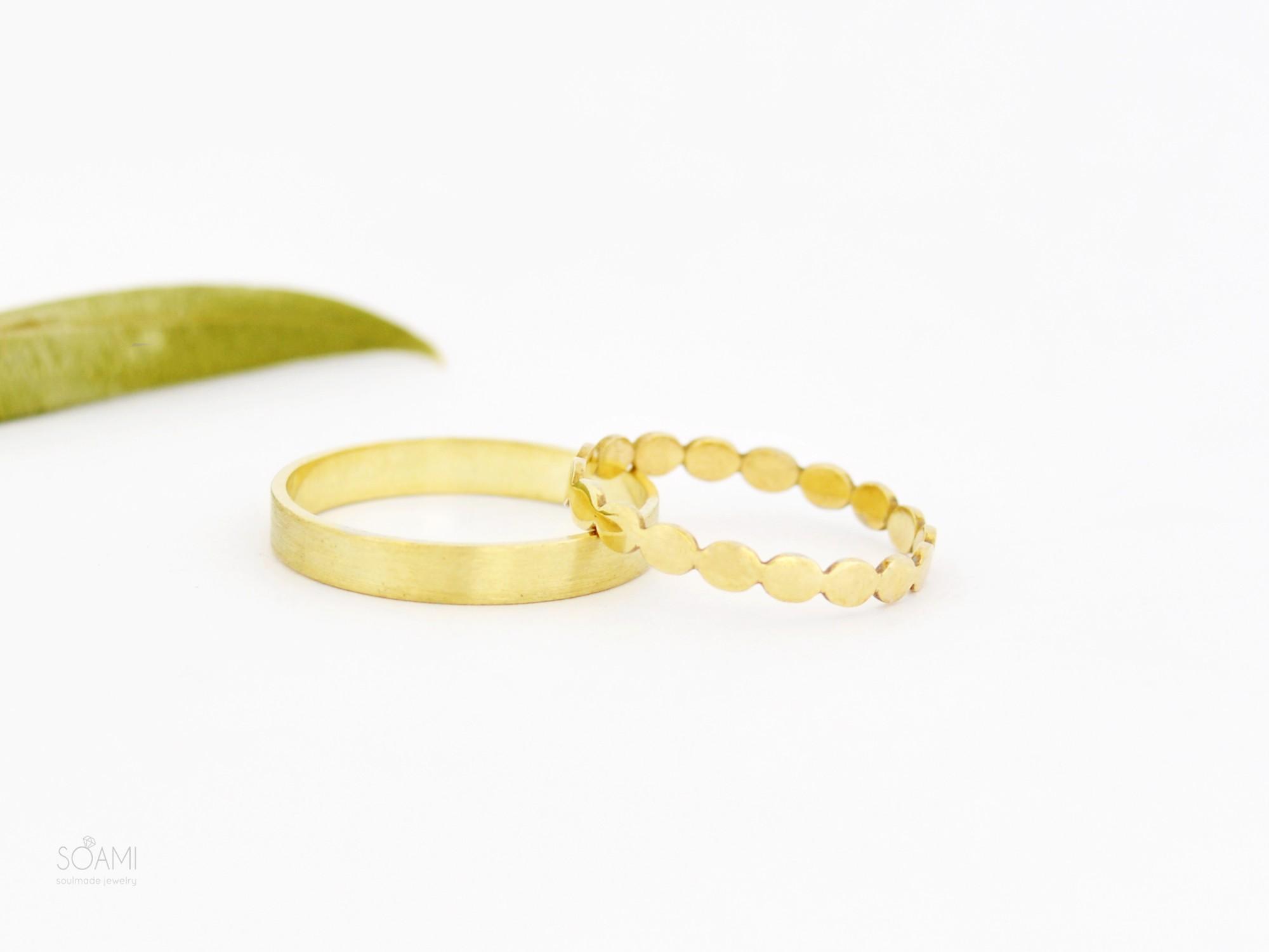 snubní prsteny, 585 zlato