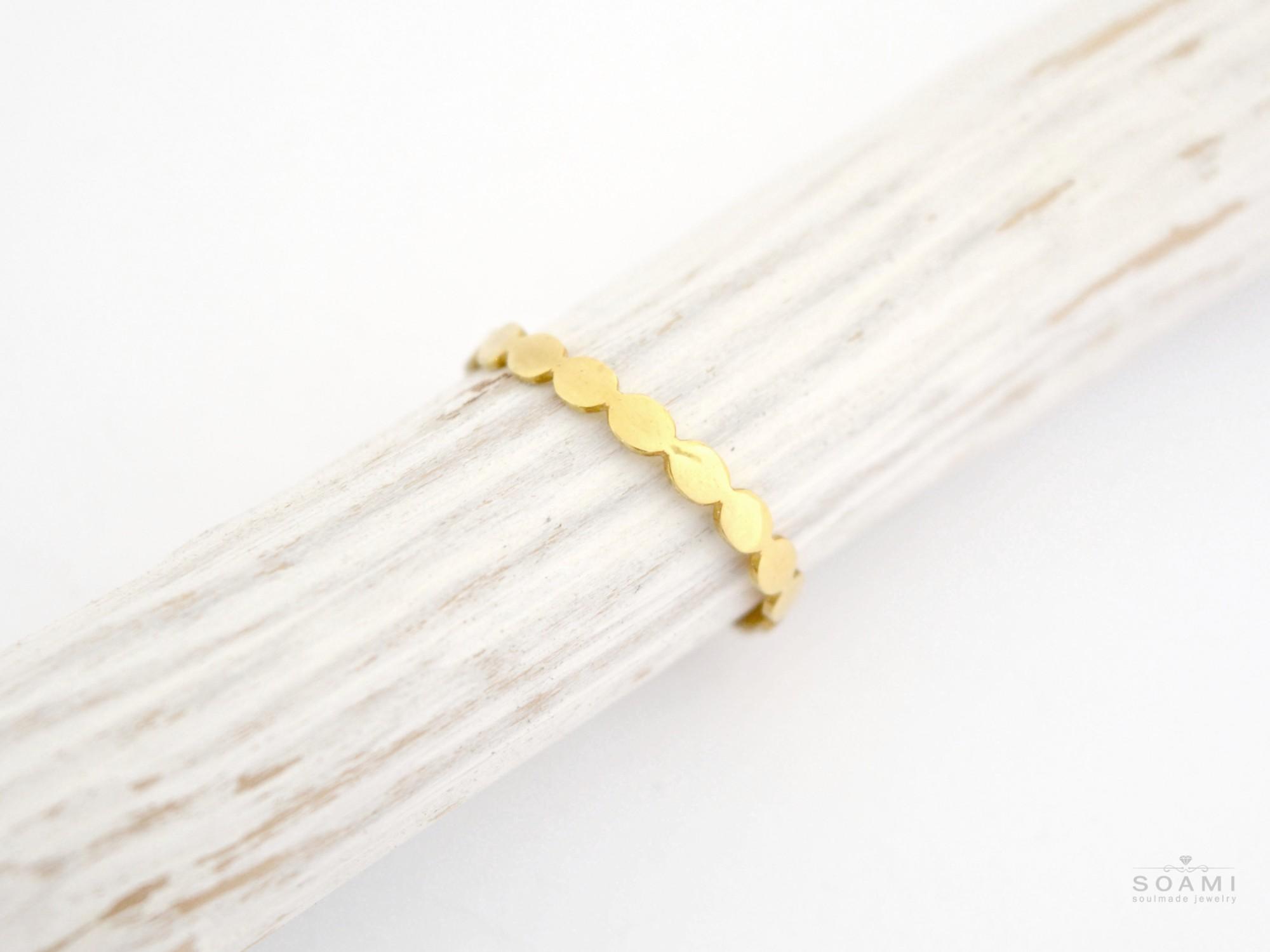 585 zlatý prsten Rýžová pole