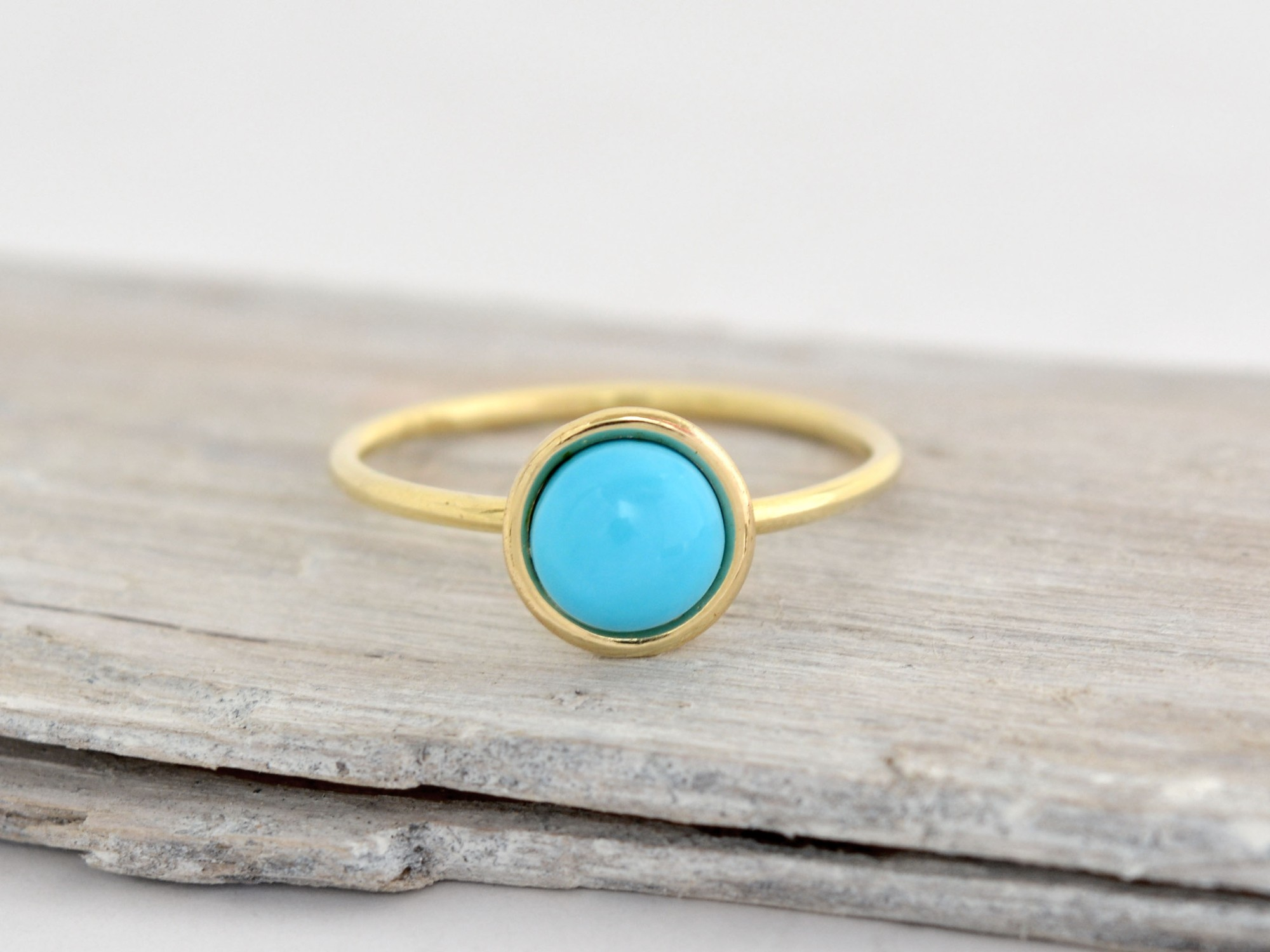 585/1000 zlatý prsten s tyrkysem Adi