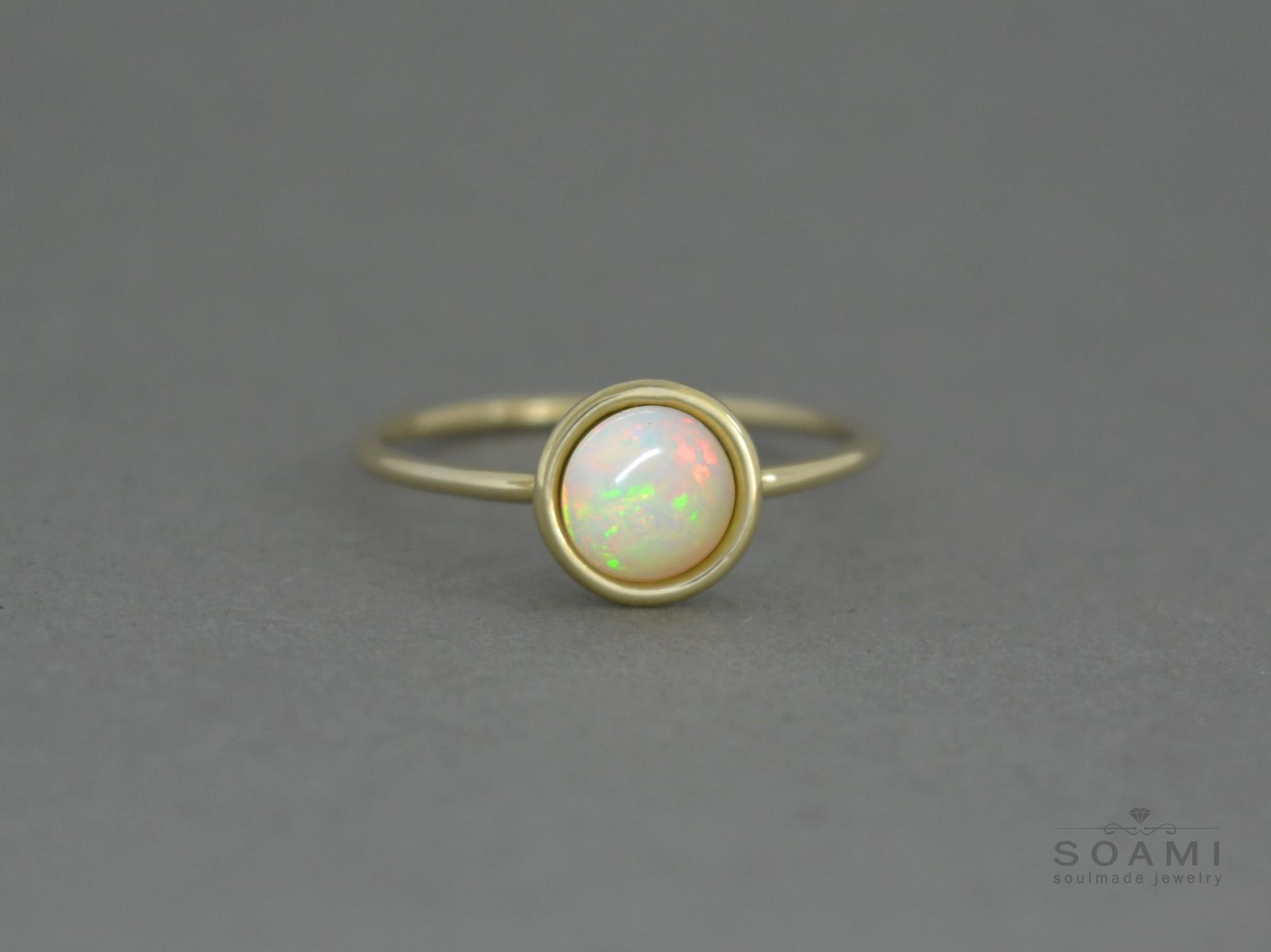 zlatý prsten s opálem Didi